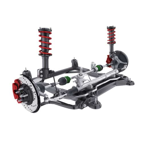 car suspension and brake system
