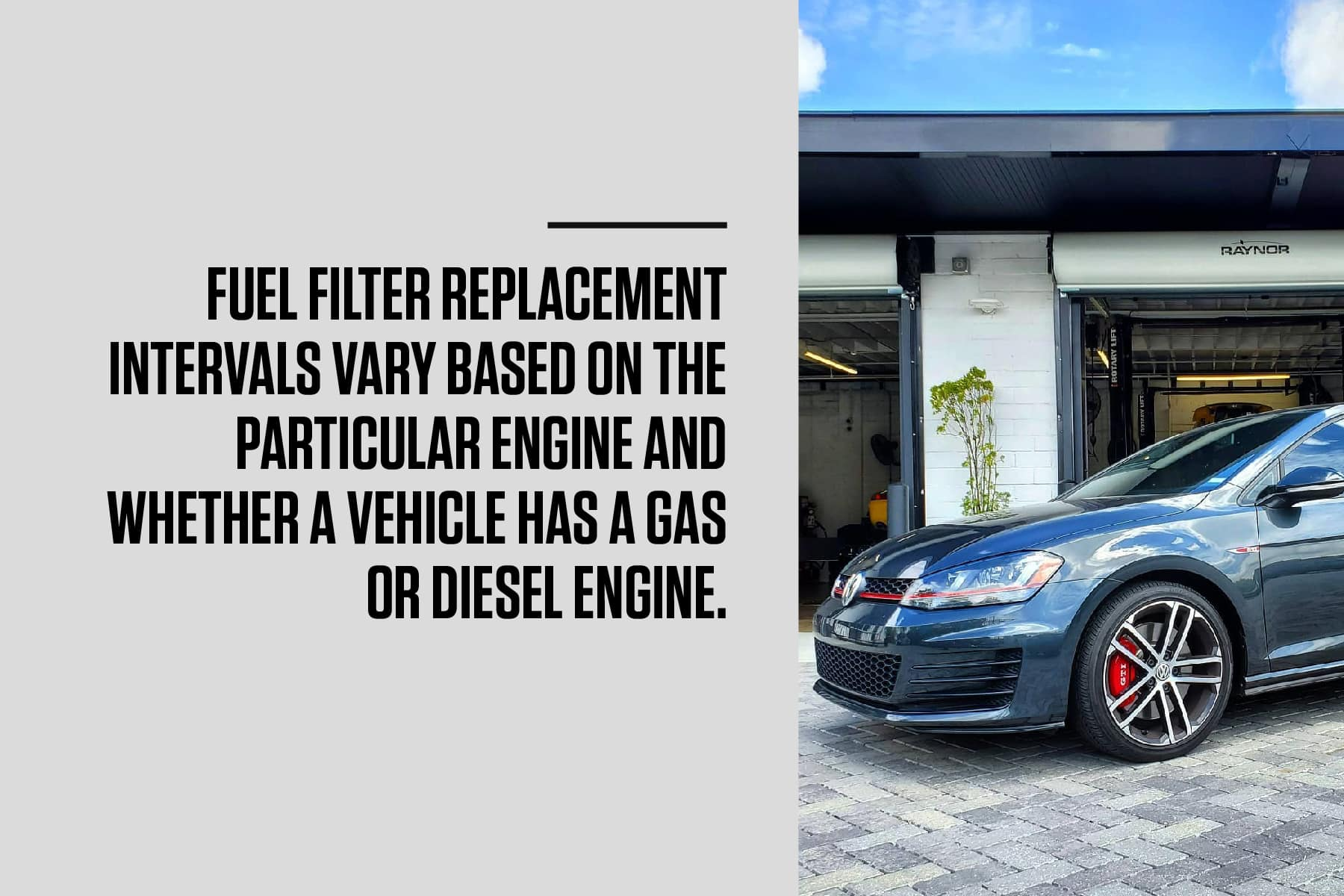 vw fuel filter replacement intervals vary on the engine
