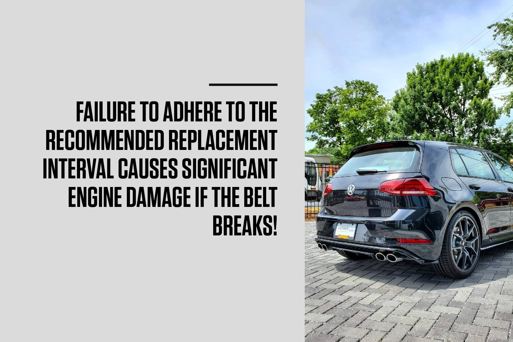 not following correct maintenance can cause significant engine damage