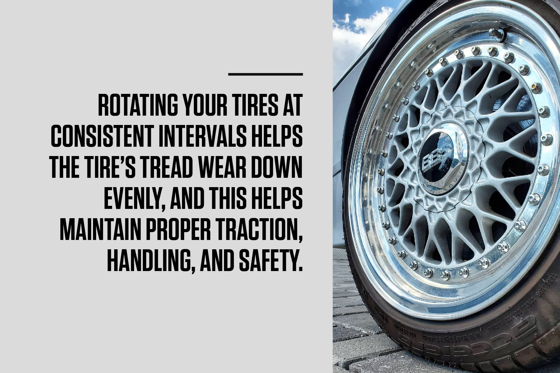rotate your vw car's tires at consistent intervals