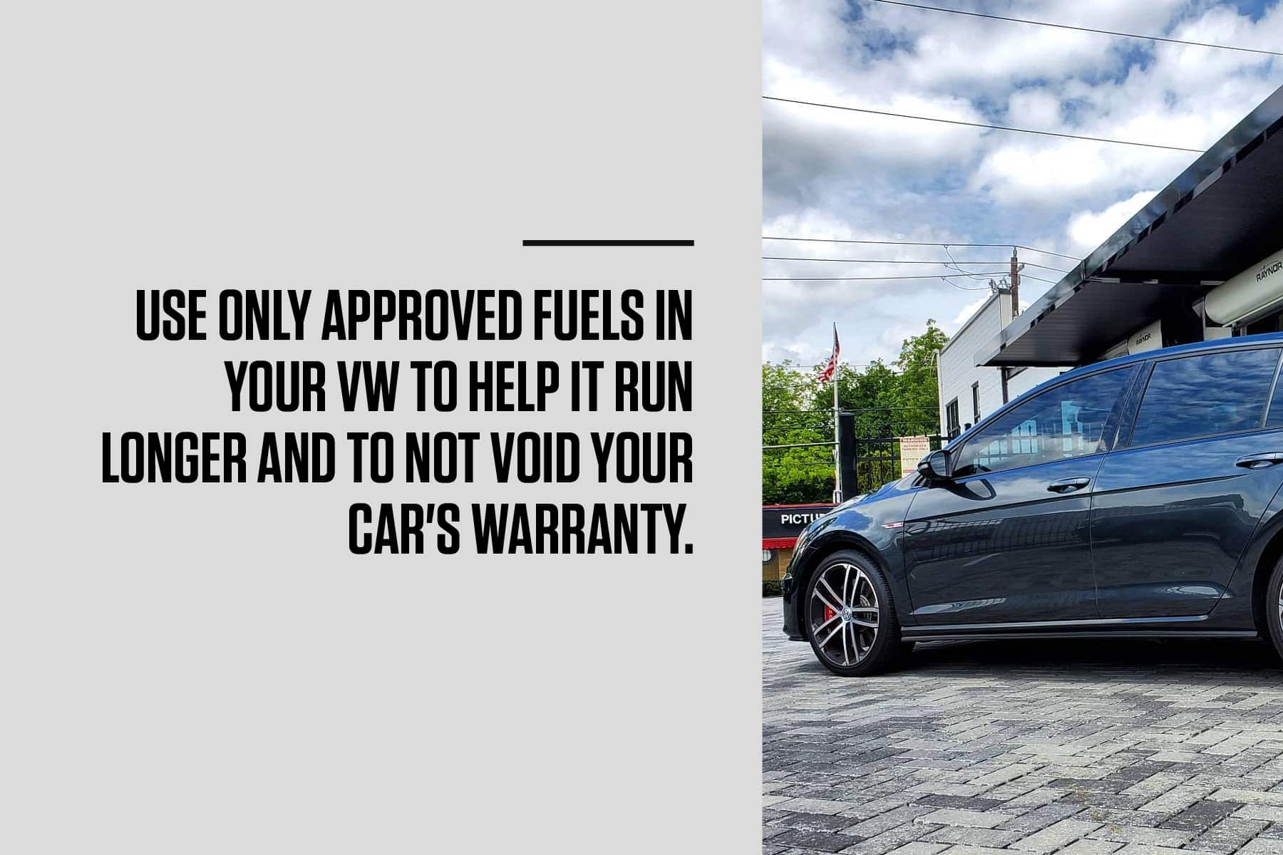 use only approved fluids in your volkswagen