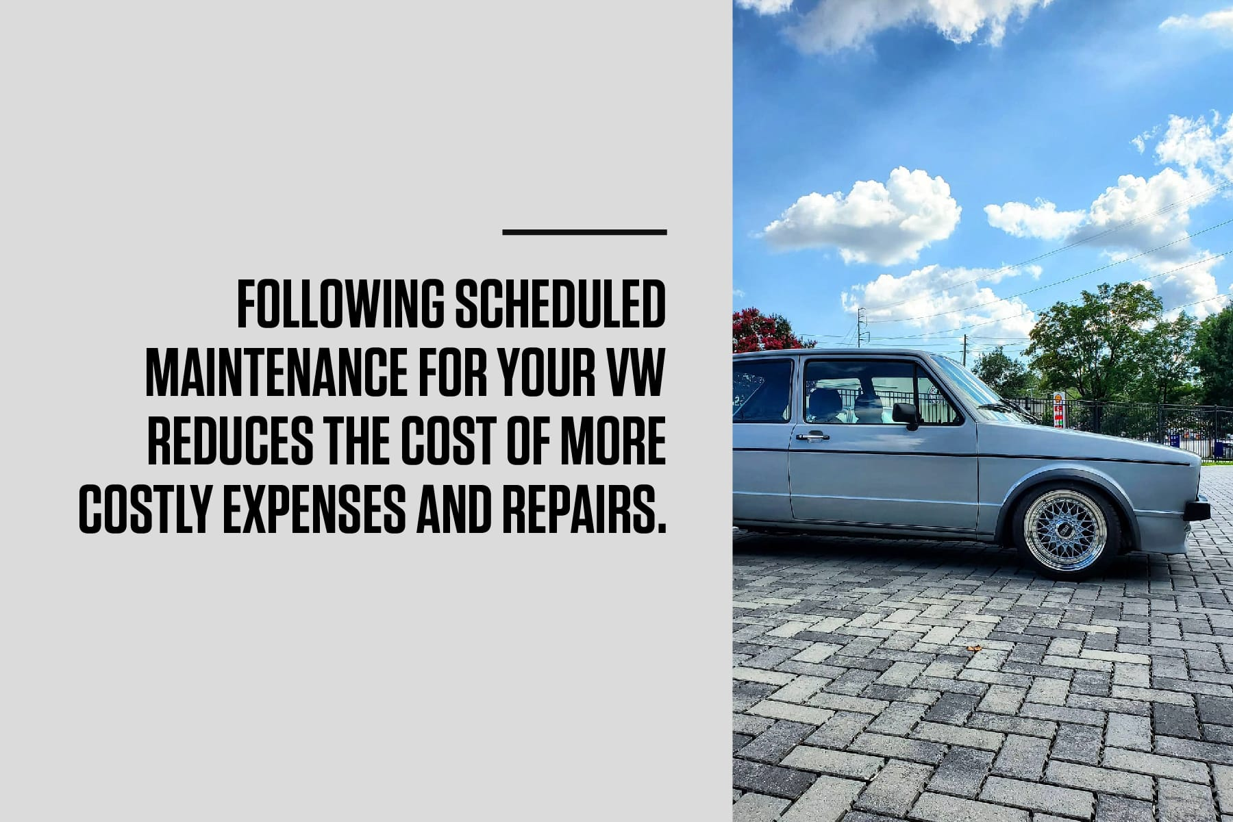 following scheduled maintenance reduces costly repairs