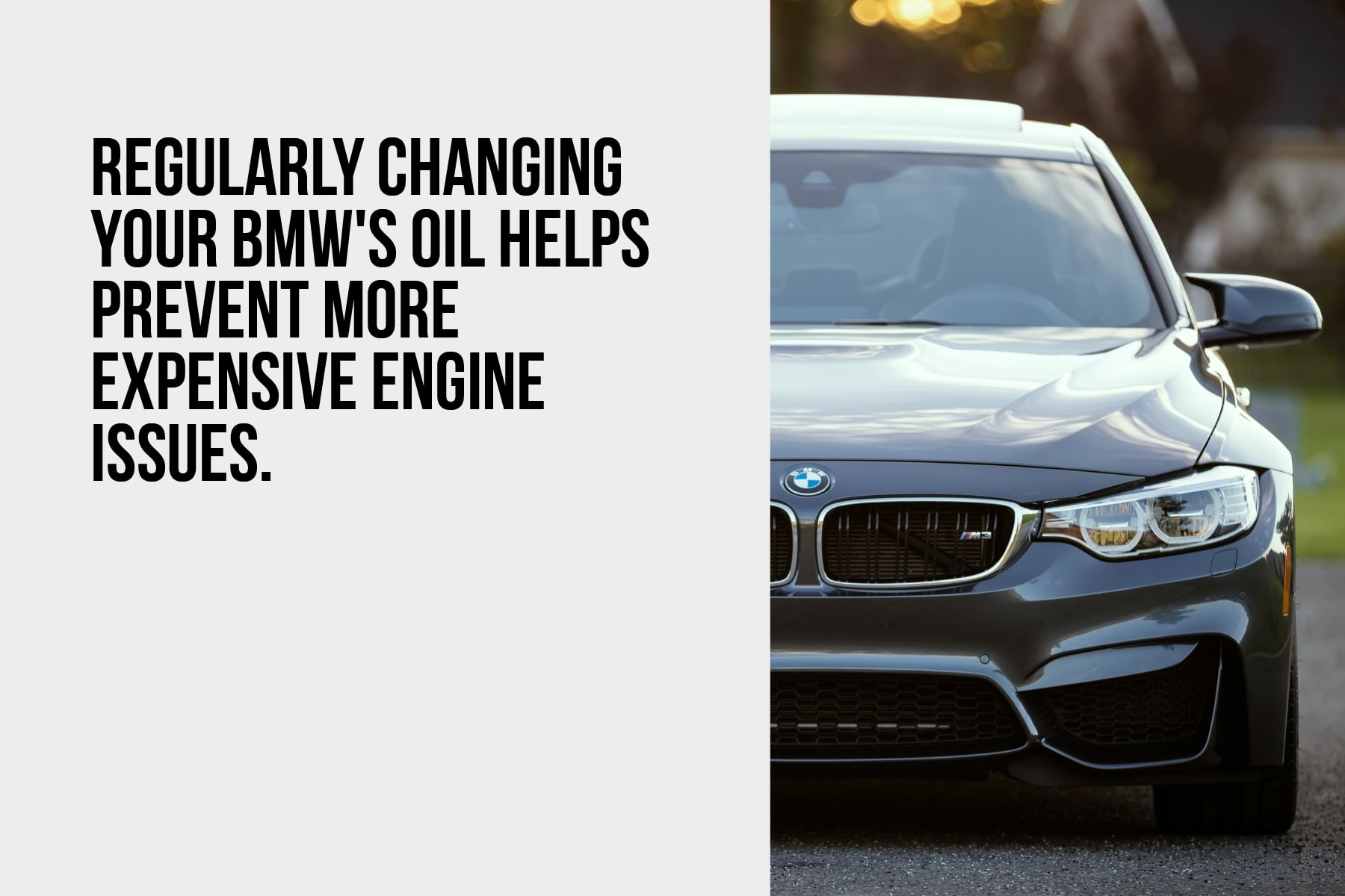 Regularly change your BMW's oil