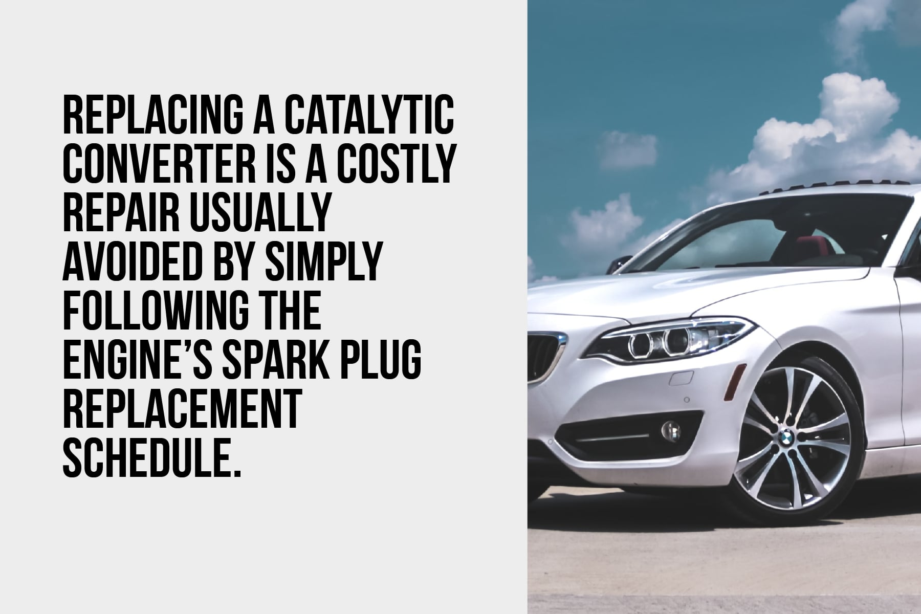 Replacing a BMW catalytic converter is a costly repair