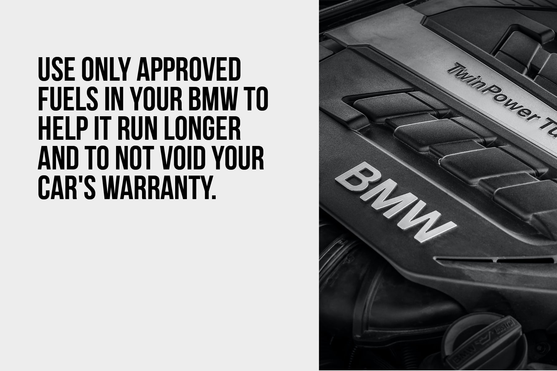 only use approved fuels in your BMW