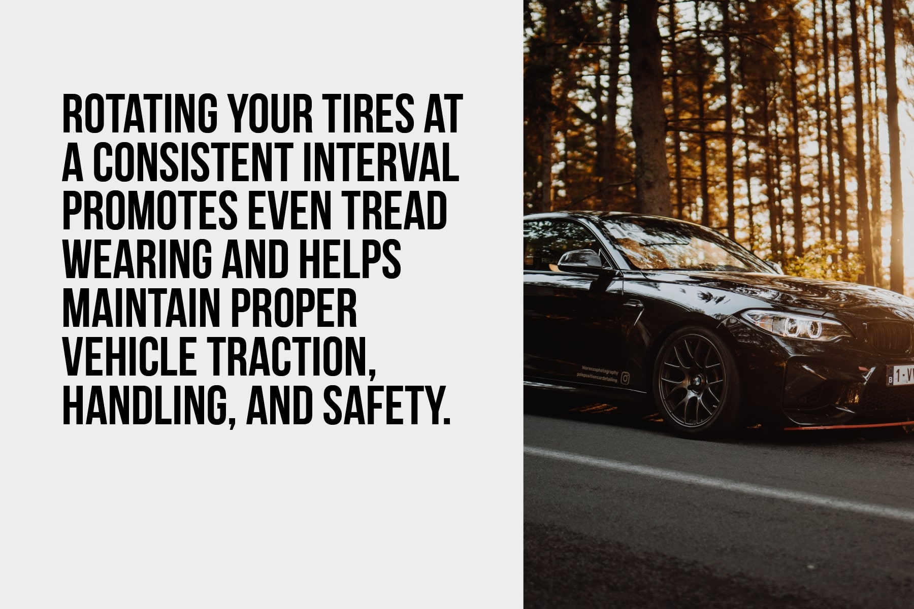 rotate tires for even tread wearing
